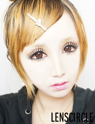 charm blue circle lenses