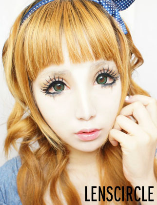 charm green circle lenses