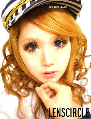 Crystal Blue Circle Lens