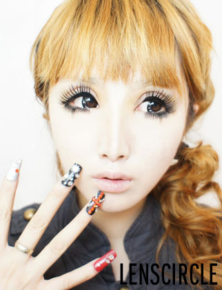 diamond black circle lenses v4