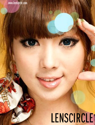 flower blue circle lenses