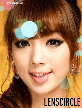 flower brown circle lenses