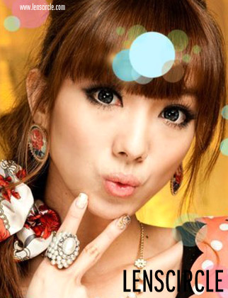 flower grey circle lenses