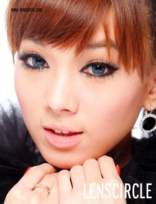 blue super nudy circle contact lenses