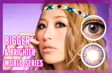 world purple circle lens
